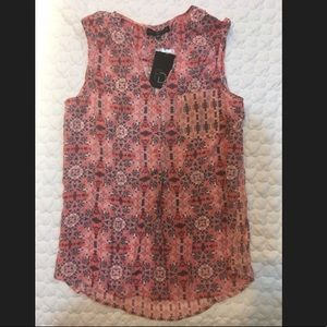NWT Pink and Gray Patterned Tank Top